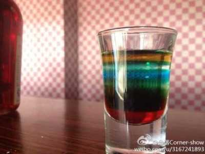 七色彩虹鸡尾酒来源 七色彩虹酒怎么调 七色彩虹鸡尾酒照片