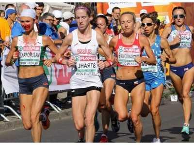 白俄罗斯流血 白俄罗斯女将参加欧锦赛马拉松赛