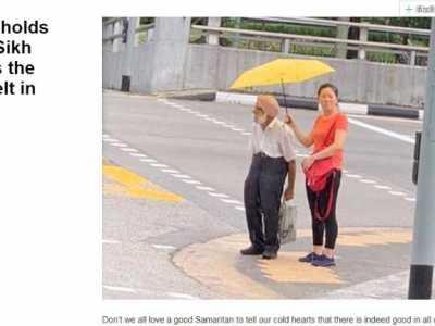 新加坡很小 这位中国姑娘在新加坡的一个小举动