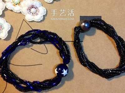 还能用作不扯头发的发饰 手工串珠手链教程