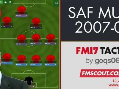 FM2017仿弗格森07/08年曼联欧冠冠军的433战术包 08年曼联阵容